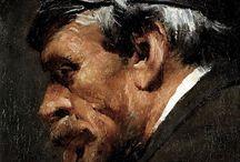 Adolf Menzel / Tekeningen/pastels