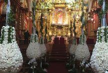 Boda Romántica con Velas / boda realizada en la Capilla del Rosario en Quito Ecuador y la recepción en el Club El Condado