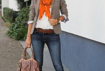 Autumn / Winter outfits / Autumn in Sydney. Rust, blue, grey, black, brown, navy