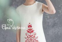 лен платье вышивка