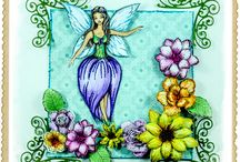 Mermaid and Fairy Cards / Creative Splendour Sample cards created using the new release of Fantasy stamp sets of Fairies and Kewpie Doll Mermaids.