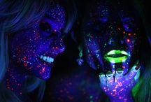 Neon / Fotografia com Make neon e iluminação com luz negra  Configuração especial da câmera para esses resultados