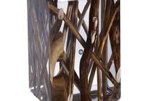 DESIGN D'OBJET/verre,acrylique,résine
