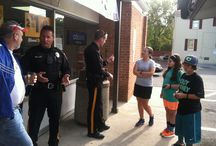 Coffee with a Cop  7-Eleven September 28th, 2014 / The Evesham Police held a Coffee with a Cop event at 7-Eleven at the corner of E. Main Street and N. Maple Avenue.  Officers answered questions, handed out police trading cards, and got to meet many different residents of Evesham Township.