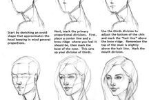 How to draw a face.