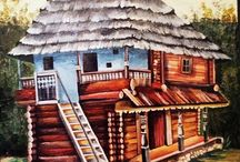 Traditional houses of Romania