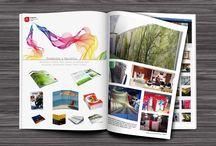 Tarjetas, pósters, trípticos, dípticos, revistas | Visit cards, flyers, newsletter, magazine / Aquí podéis encontrar algún ejemplo de impresión de tarjetas, pósters, dípticos, trípticos, revistas, flyers, newsletter, planos...