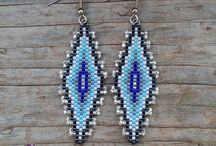 náušnice / earrings / earring, beads