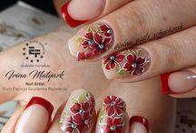 Ногти цветы