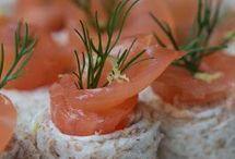 petits rouleaux saumon fume