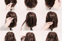 Peinar cabello corto