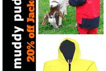Kids Waterproof Clothing / 20% off SALE on Waterproof Overalls and Jackets while stocks last .  XS - L sizes available at: www.greengoat.com.au
