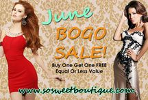 BOGO SALE / Buy One Get One Free!! For a limited time only.  / by sosweetboutique.com