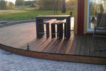 Uteplatser/ altaner / Terass, uteplatser och altaner. Terrace and patios