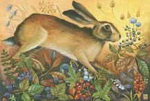Peintre (Jemina Jameson) / Lièvres... dans un univers poétique