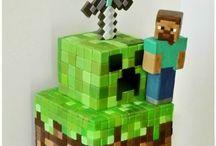 Mine craft cakes