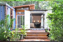 Inspired Living Spaces / Cool container homes, tiny homes, treehouse and castles- these creative spaces will inspire you to live outside the box