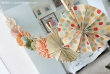 Buntings, banners and garlands / Buntings ... banners ... garlands .... whatever one calls them, these are such a fun decorating element.  I'm always finding new ones to make and enjoy. / by Mrs. T