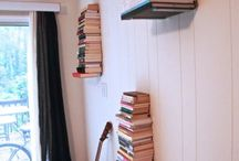 Home Library / creative ways to display your collection of books.