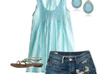 Summer Closet/Blue outfits / by Kim Boyette