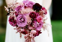 pink/purple and white