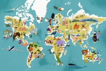 Illustrated Maps / I love maps