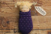 Naronka Pocket Dolls / Cute little dolls made with love from natural wool and a funky socks.