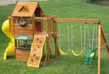Playground & Treehouse Ideas / Great ideas for adding fun, adventure and exercise to your back yard.  Home playground Home playground ideas. Home playground DIY. Create a home playground. Playground games at home.