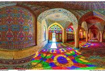 Mosquée Rose Nasir-ol-Molk Iran paysage moyen orient / Mosquée Rose Nasir-ol-Molk Iran paysage moyen orient