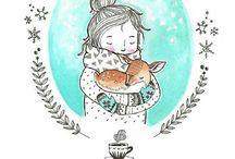 девочка и олень