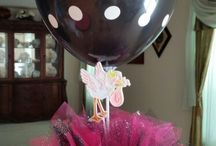 Hot Pink and Black Polka Dot Baby Shower
