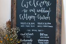 Wedding - Chalk Boards
