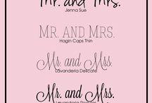 Wedding Fonts / Tipografías para bodas y más