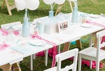 Mesa de boda para niños