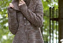 Knitted sweater pattern / Long with bottons