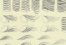 Calligraphy - how to-s / Calligraphic tutorials, excersizes