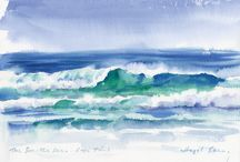 Watercolour sea