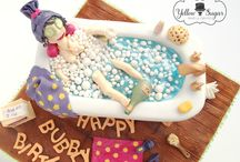 Adult's birthday cake / Bath time birthday cake