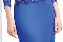 gaun biru