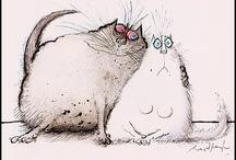 Cats / Рисунки, куклы, иллюстрации