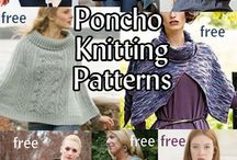 Knitted Poncho's