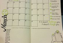 Bullet Journal / Layout ideas for bullet journal pages