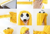 peluca con lana
