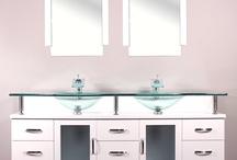BW-700-W-72 72''Double Modern Bathroom Vanity Set