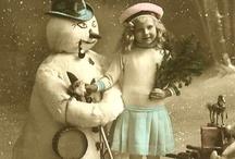 Vintage snømann