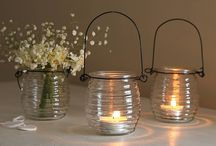Candle and holders