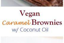 vegan caramel brownie