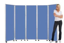 Mobile Easy Clean Room Dividers Panel Warehouse  / Easy Clean Room Dividers are made from a waterproof, stain resistant, and anti- bacterial fabric a great solution for Schools, Hospital and other high demanding workplaces. Here at Panel warehouse we offer a fantastic range of heights, panel combinations and colours to suit your requirements. We can manufacture your Mobile Folding Room Divider exactly as you require it and have it ready for despatch in under 72 hours.