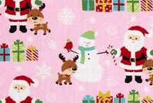 Santa's Little Deer Fabrics