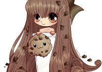 cute food anime girls